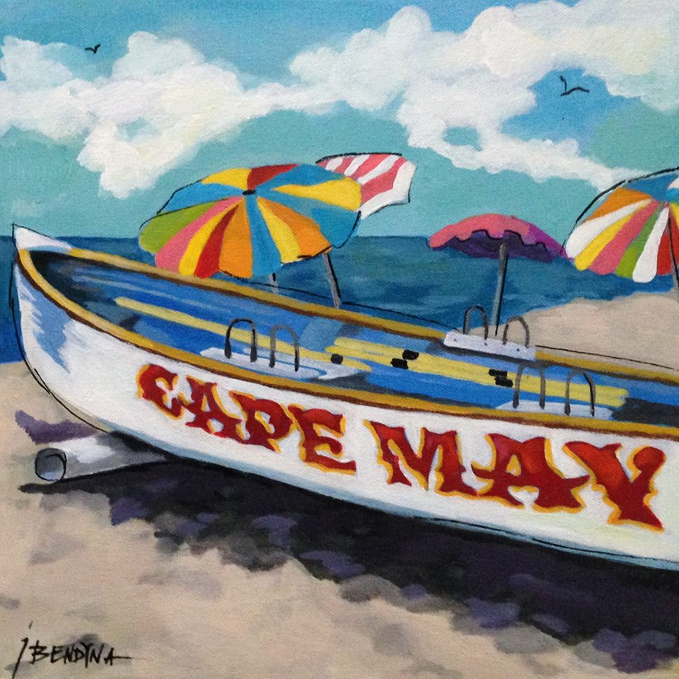 Cape May New Jersey Boat Painting